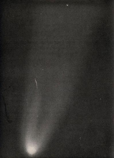 Imagen del cometa Halley tomada desde el Alto de Guajara en 1910