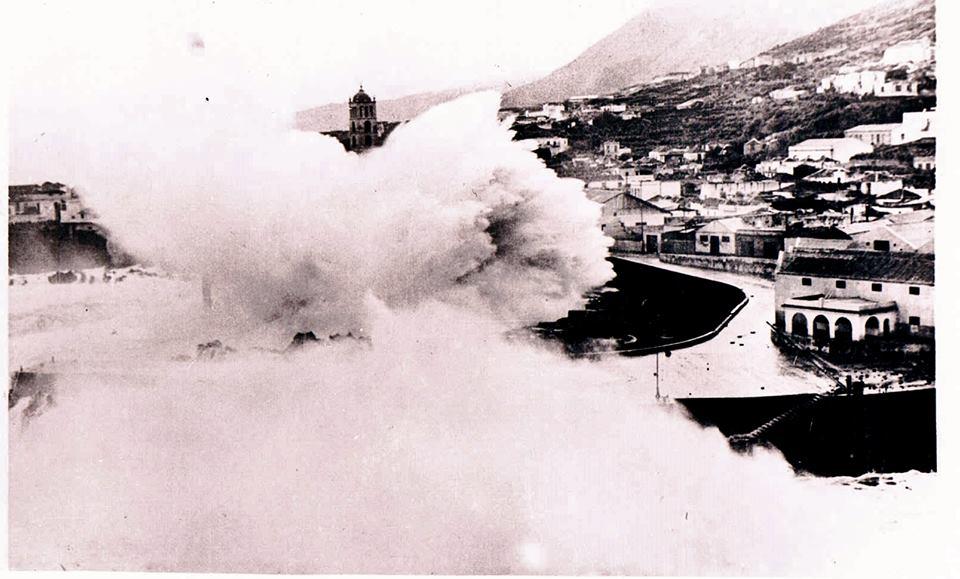 Mar de leva en Garachico