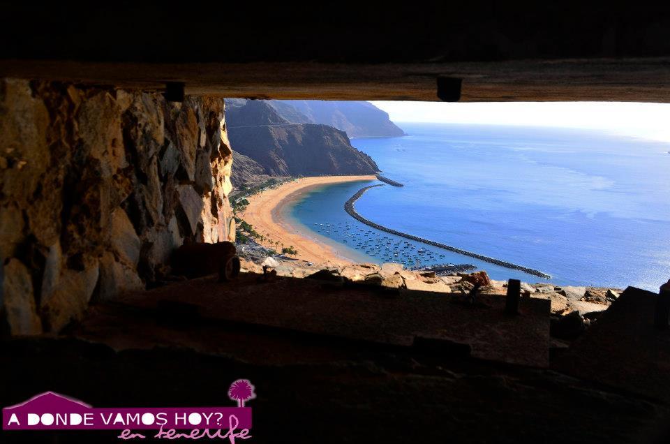 Vistas de la playa de Las Teresitas desde el