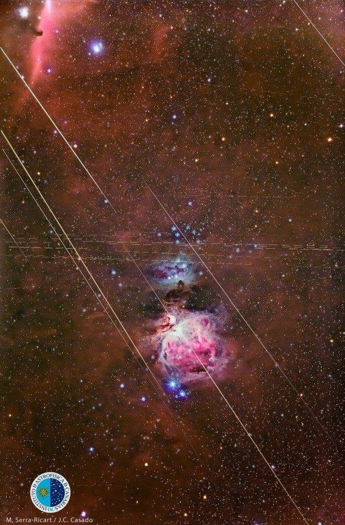 Geminidas sobre la nebulosa de Orión. Foto: MIQUEL SERRA / IAC WWW.IAC.ES